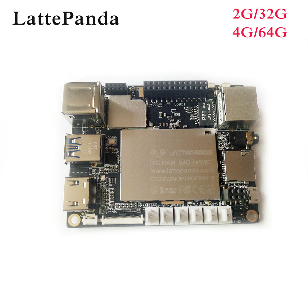 цена на LattePanda 4G/64GB board, Intel X86 X64 Z8350 Quad Core 1.8GHz Full Windows 10/Linux ArduinoATmega32u4 on board,Deep Learning