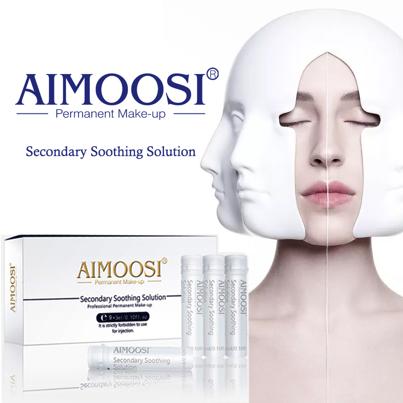 Aimoosi secondary soothing solution for eyebrow lips for Painless permanent tattoos