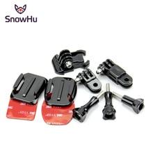 купить SnowHu for Gopro Accessories Set Sticker 3M Adhesive Screw for go pro hero 7 6 5 4 3 for Eken h8r / for xiaomi yi 4K sjcam GP18 дешево