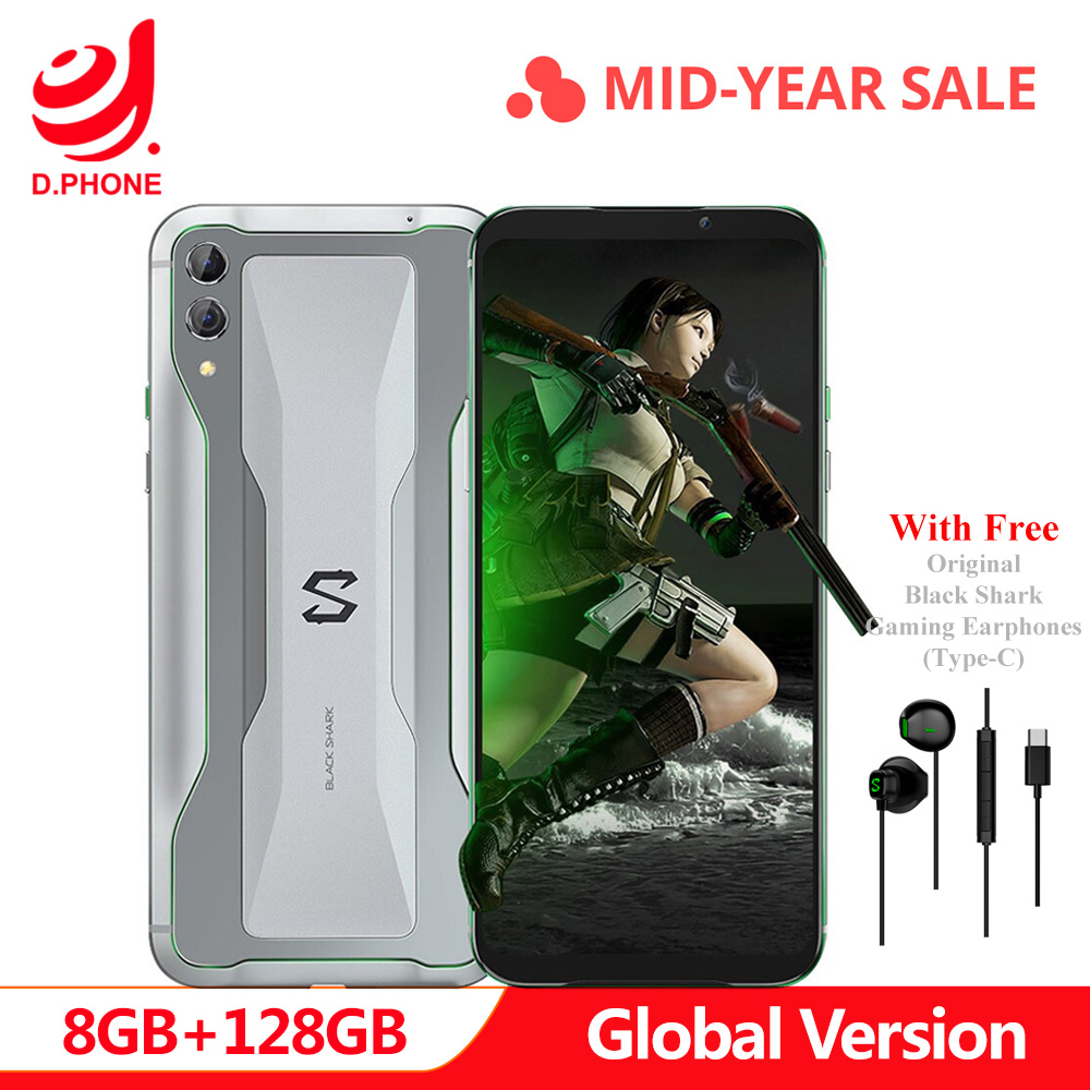 Version globale Xiaomi Black requin 2 8 GB 128 GB téléphone de jeu Snapdragon 855 Octa Core 6.39
