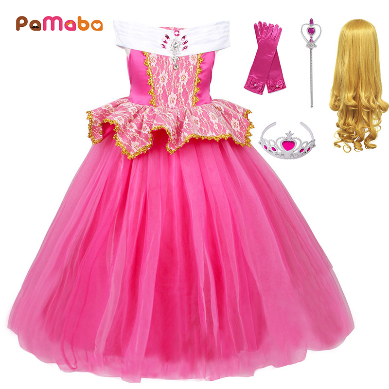 3ed5f07543e PaMaBa Kids Birthday Party Princess Aurora Frock Carnival Festival Sleeping  Beauty Costume for Girls Christmas Gift Fancy Dress-in Dresses from Mother  ...