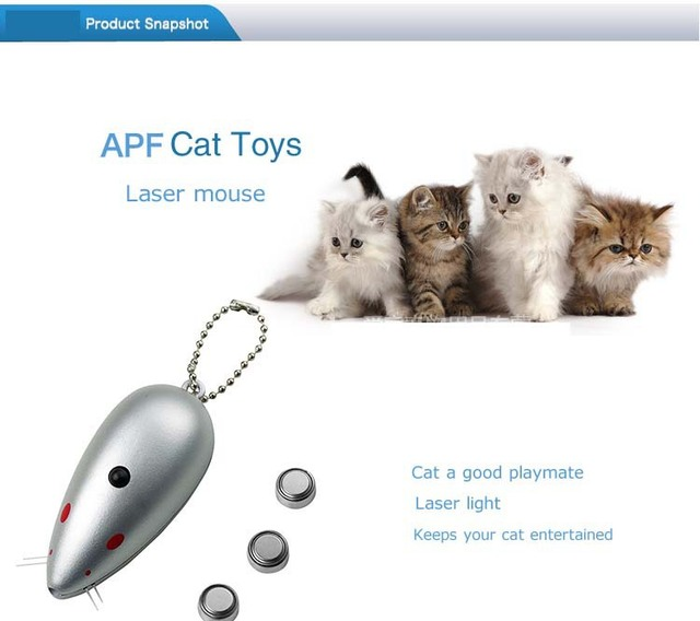 AFP Cat Toy Laser Mouse Interactive Automatic Red Laser Pointer Pet Cat Dog  Exercise Toy