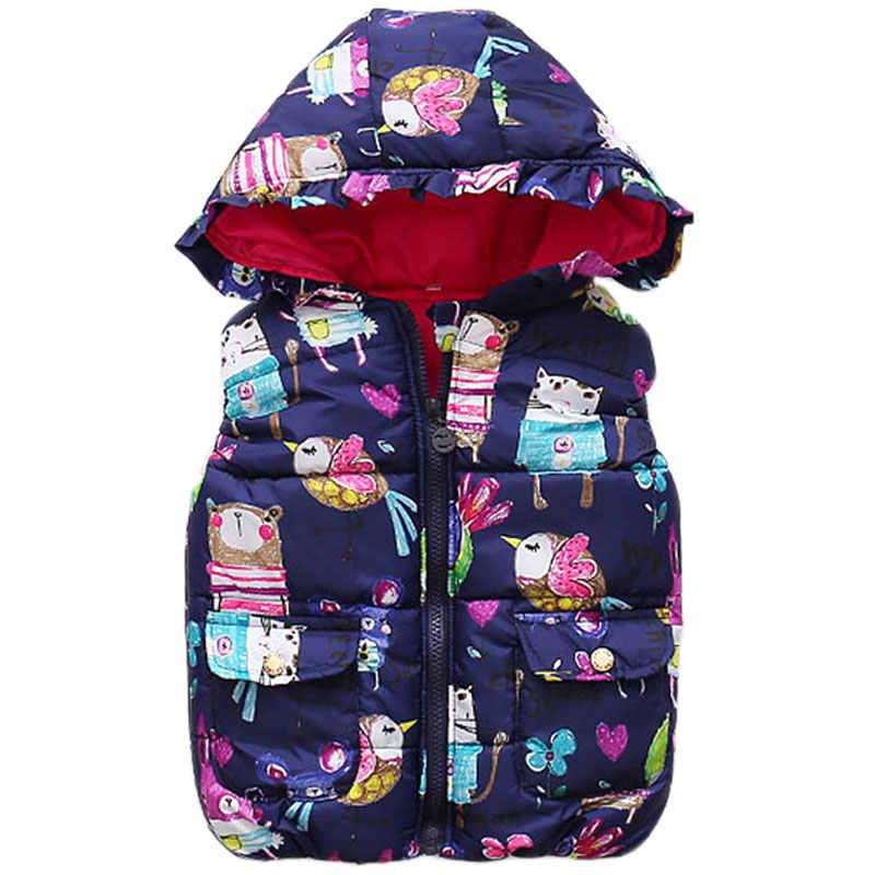 Детская зимняя легкая теплая жилетка для девочек детский жилет с рисунком мышки для маленьких мальчиков и девочек Рождественская куртка, пальто детская одежда