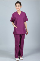 New Plus Size WoMen S V Neck Summer Nurse Uniform Hospital Medical Scrub Set Clothes Short
