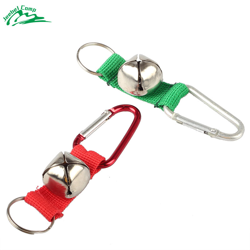 Jeebel Bear bells Hiking Safety Survival Attack Prevent Getting Lost Outdoor Camping Tools Molle Field Carabiner