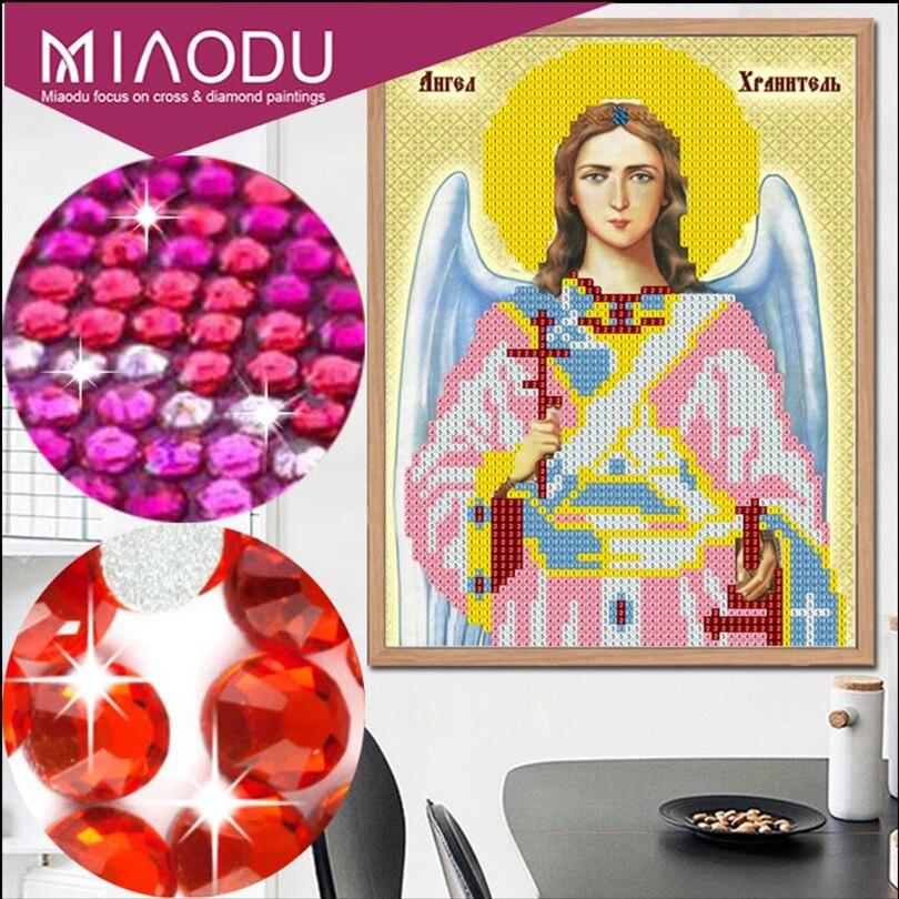 Miaodu 5d diy pintura diamante ponto cruz retro religião ícone do líder mosaico de diamante homens diamante bordado