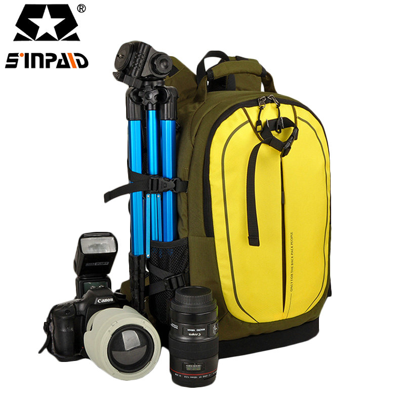 Sinpaid 2017 Digital DSLR Camera Bag Waterproof Photo backpack Photography Camera Video Bag Small Travel Camera Backpack-FF sinpaid anti theft digital dslr photo padded camera backpack with rain cover waterproof laptop 15 6 soft bag video case 50