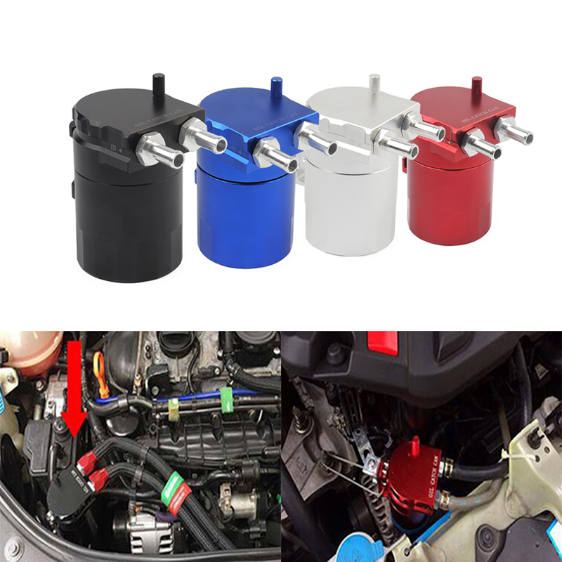 300ml Aluminum Baffled Car Oil Catch Tank Can Reservoir Universal Oil Catch Tank Cans Universal Style