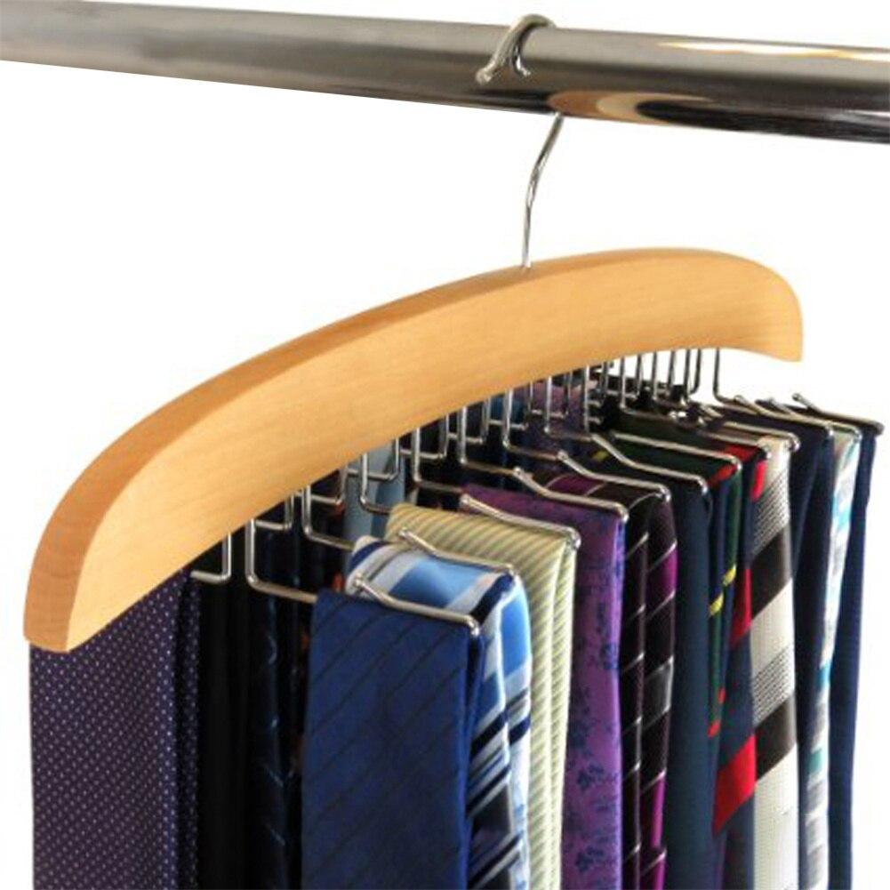 Multifunction Storage Rack Necktie Tie Hanger Scarf Closet Organizer Rackholder With 24 Hooks For Home