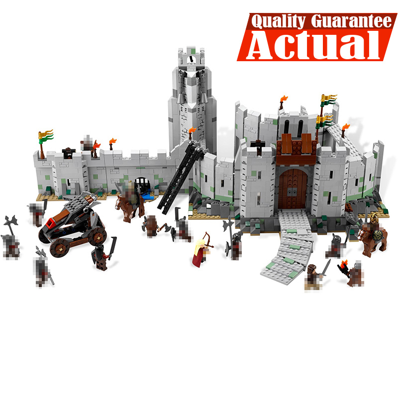 In Stock Lepin 16013 The Lord of the Rings 1368Pcs Series The Battle Of Helm' Deep Model Building Blocks Bricks Educational Toys lepin castle knights 16013 the lord of the rings figures the battle of helm deep model building blocks bricks hobbit toys 9474