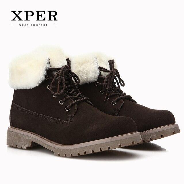2016 Brand XPER Men Winter Casual Shoes Lace-up Snow Casual Men Shoes Antiskid Size 40~45 Warm Plus Size #BT001