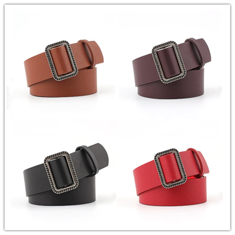 1pcs Women Retro Fashion Waist Wide Belt Faux Leather Decorative Buckle Waistband Casual Retro Style BBB0720