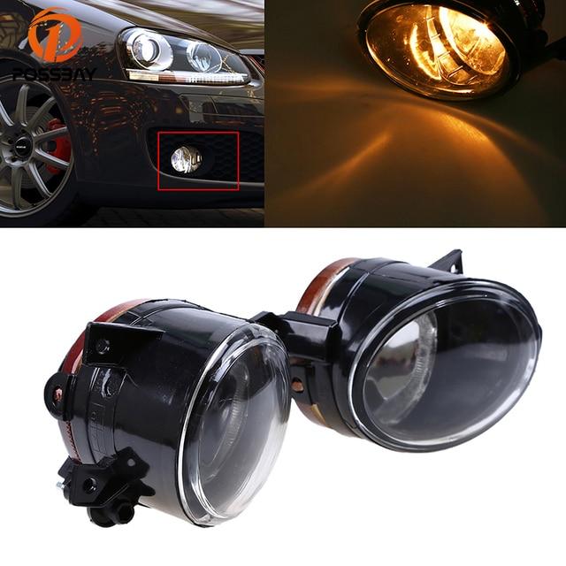 POSSBAY Car-styling Front Bumper Fog Light Lamps Halogen for VW Jetta/Bora/Golf Mk5 2004/2005-2010 H11 55W Yellow Fog Lights