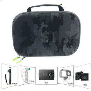 Image 1 - الأصلي يي كاميرا تخزين حقيبة مقاوم للماء التمويه إيفا حقيبة حافظة ل شاومي يي 4k/Gopro بطل 5 4/SJCAM SJ6 SJ7 اكسسوارات