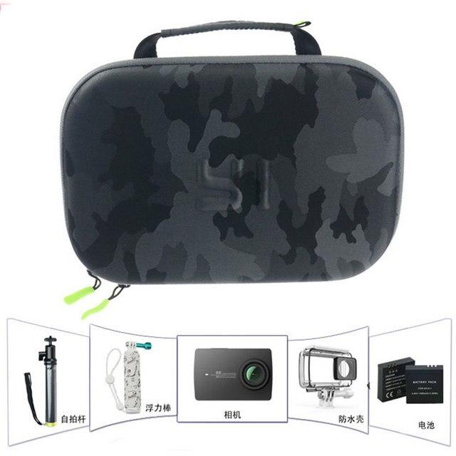 Ban Đầu Yi Camera Túi Bảo Quản Chống Nước Ngụy Trang EVA Túi Dành Cho Xiaomi Yi 4K/Gopro Hero 5 4/SJCAM SJ6 SJ7 Phụ Kiện