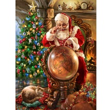 Diamond Painting Santa Embroiderey Full Square Mosaic Embroidery Handmade Christmas Home Decoration