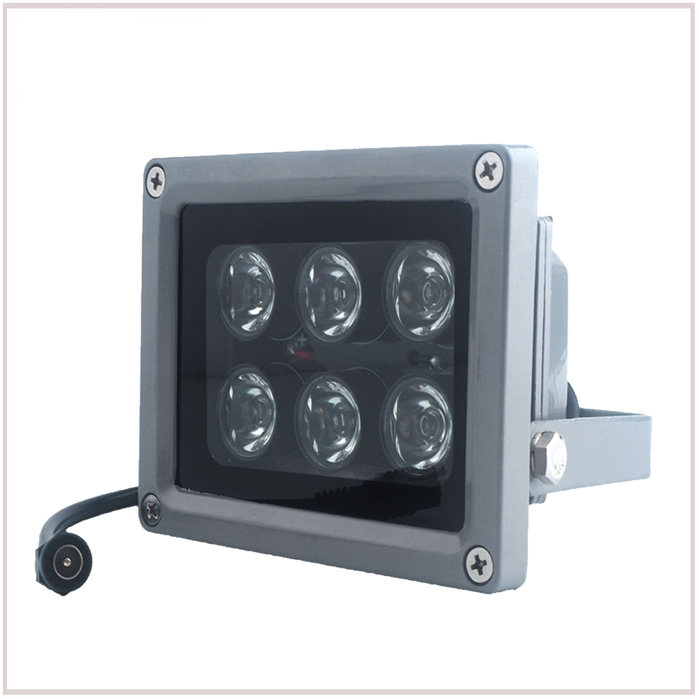 YiiSPO CCTV Array IR illuminator infrared lamp 6pcs Array Led IR Outdoor IP65 Waterproof Night Vision for CCTV Camera