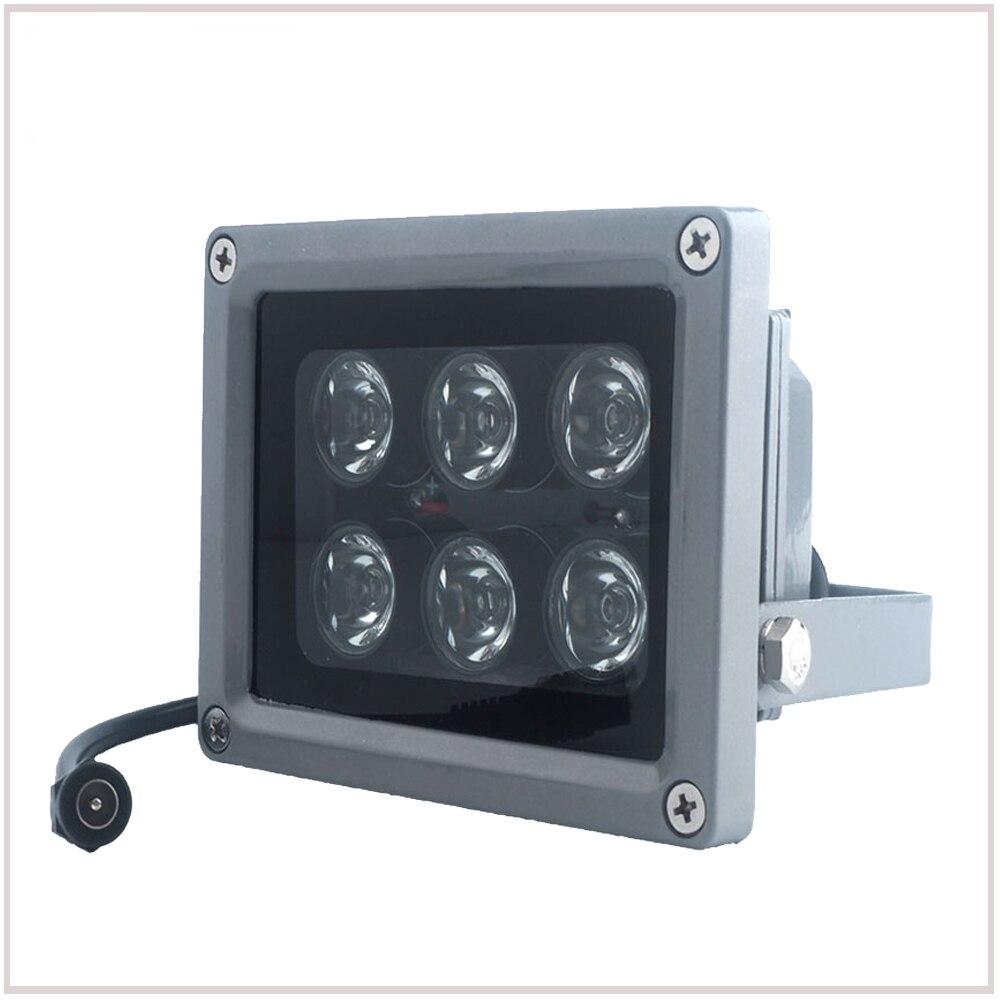 YiiSPO CCTV Array IR iluminador de infrarrojos lámpara 6 piezas de Led al aire libre IP65 impermeable noche visión para cámara CCTV