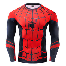 Tshirt Mens Spiderman Expedition War Compression Shirts Long Sleeve 3d T-shirt Marvel Avengers Cosplay Costume