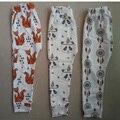 2017 Leggings de algodão Do Bebê calças de caracteres meninos calças Do Bebê Meninas leggings calças