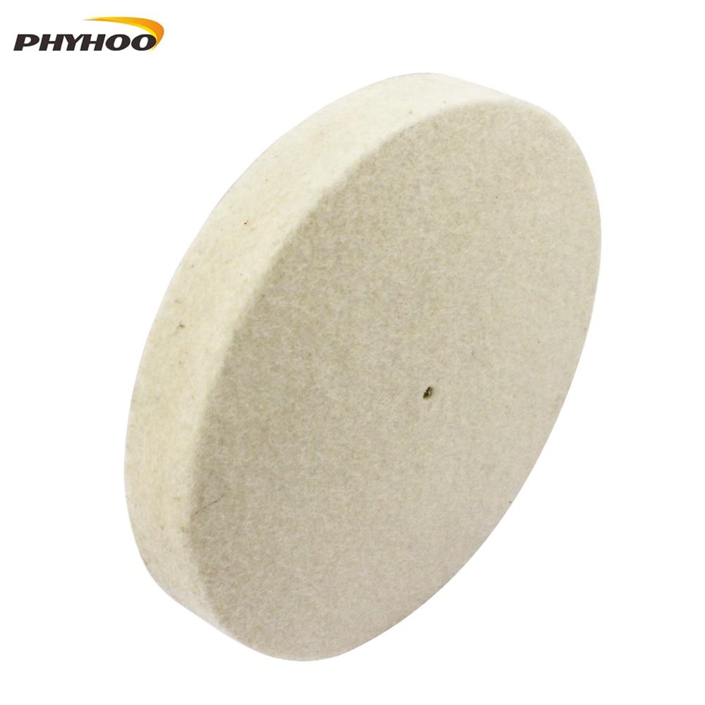 """Premium Quality Diameter 4"""" & 6"""" Wool Felt Polishing Wheel Wool Polishing Disc"""