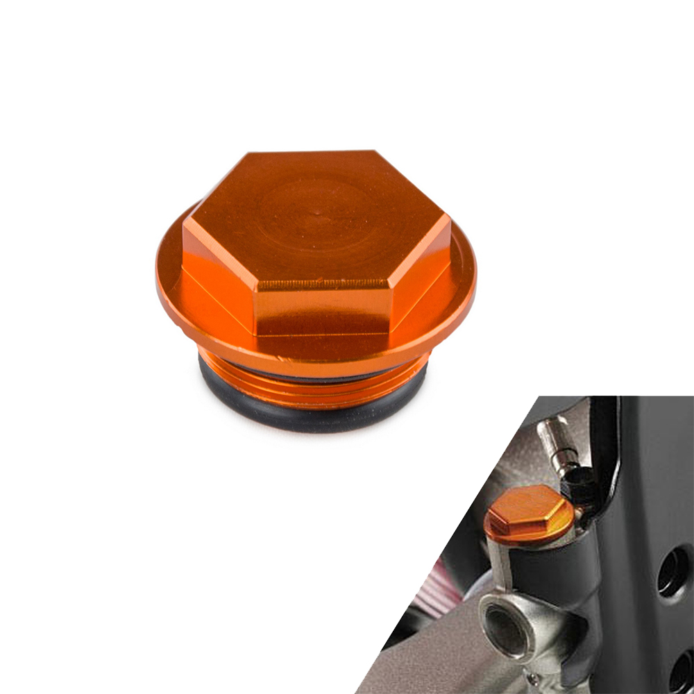 H2CNC Rear Brake Reservoir Screw Cap Plug For KTM 125 144 250 300 350 450 500 505 530 540 560 SMR SXS XCRW EXC SIX DAYS XCG EXCG in Covers Ornamental Mouldings from Automobiles Motorcycles