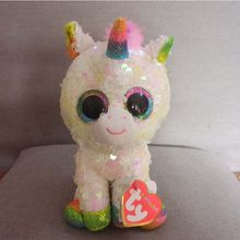 15CM Hot Ty Beanie Boos Big Eyes Sequin Unicorn Heart Dog Unicorn Dog Lion  Bat Plush Toy Doll Stuffed Animal Plush Kid Toy 0c80b4fbb08c
