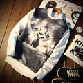 Harajuku Men Sweatshirts 3D Deer Print  Casual Pullover 2016 New Arrival Fashion Brand Personality Hip Hop O-Neck Sweatshirt