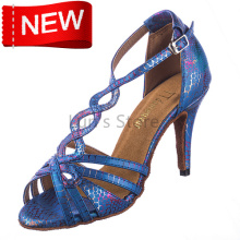 New Free Shipping  Blue Snakeskin Open Toe Dance Shoe Ballroom Salsa Latin Tango Bachata Dancing Dance Shoes ALL Size