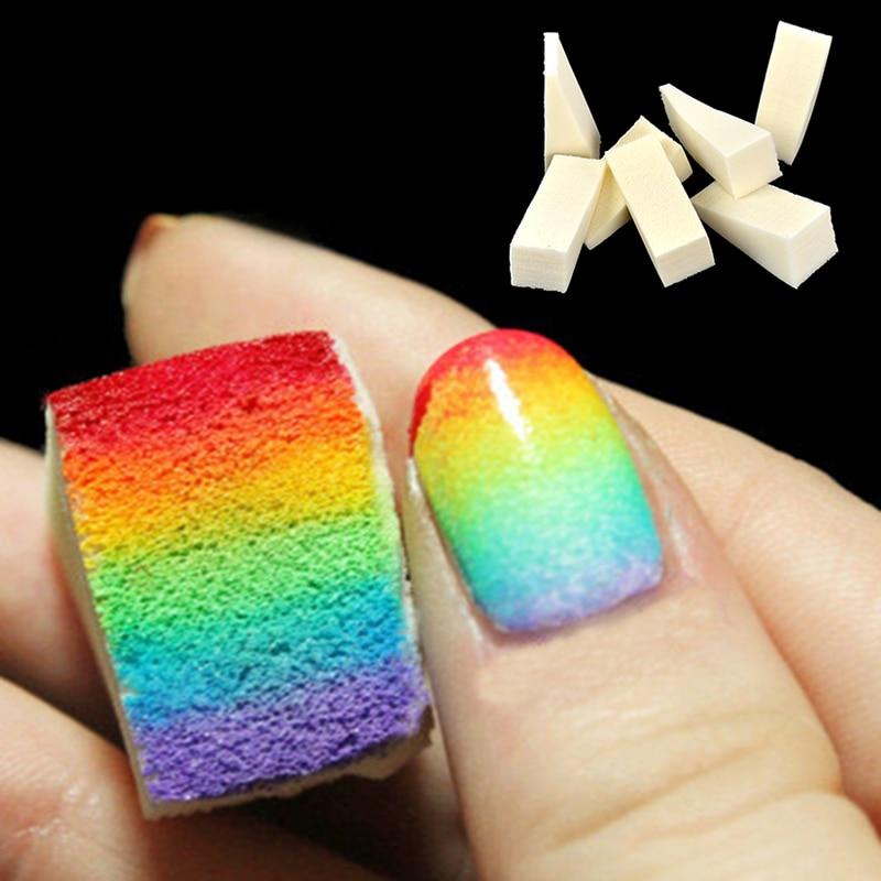gradient nail sponges 8pcs set