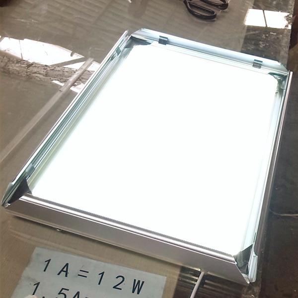 A2 Silver Clip/snap frame LED display/sign Light Box menu board ...