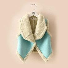 deb580b4bb05c Hiver bébé enfants filles sans manches gilet revers laine gilet débardeur  veste d extérieur 2-7 ans