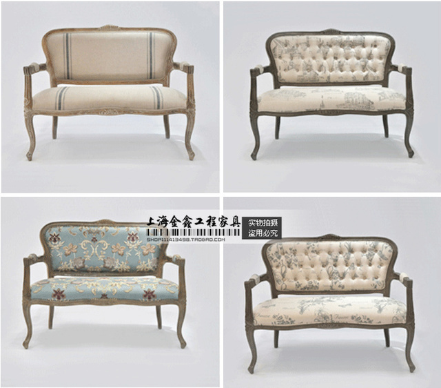 French American Wood Carved Sofa Chair Creative Designers Neoclical Furniture Luxury Villa