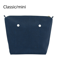 New PU Lining Waterproof Nubuck Frosted Leather Zipper Inner Pocket for Obag Classic Mini orga Insert for O BAG Women Bag