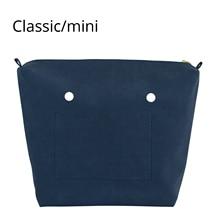 ใหม่PUซับNubuckกันน้ำFrostedหนังซิปสำหรับObag CLASSIC MINI orgaแทรกสำหรับOกระเป๋าผู้หญิงกระเป๋า