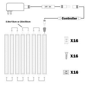 Image 4 - خزانة بار عدة جامدة LED مصباح بار مع باهتة كابينة تبديل بار أثاث مضيء إضاءة خزانة المطبخ بار (8 لوحات)