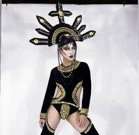 Новый готический стиль сиамская одежда бальные танцы мужские костюмы Вечерние сексуальная партия сценическое шоу носит костюм DJ певица ле