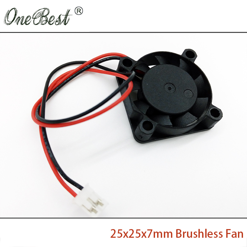 Free Shipping 25X25X7mm Mini Fan 12V DC Brushless Fan Chipset Heatsink Cooling Cooler Fan 2507 PH2.0-2Pin Cable length 150mm cnc dc spindle motor 500w 24v 0 629nm air cooling er11 brushless for diy pcb drilling new 1 year warranty free technical support