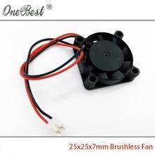Livraison Gratuite 25X25X7mm Mini Ventilateur 12 V DC Brushless Ventilateur Chipset Radiateur De Refroidissement Refroidisseur Ventilateur 2507 PH2.0-2Pin Câble longueur 150mm