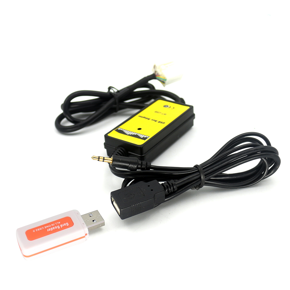 цена USB + AUX Audio Cable Adapter Car Digital CD Player MP3 Changer For Honda Accord Civic Odyssey