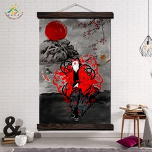Japan Samurai Bushido Modern Wall Art Print Pop Picture And Poster Hanging Scroll Canvas Painting Home Decoration