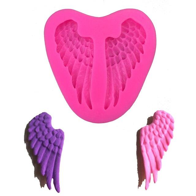 Ali di angelo di Figura 3D della torta del fondente stampo in silicone per stamp