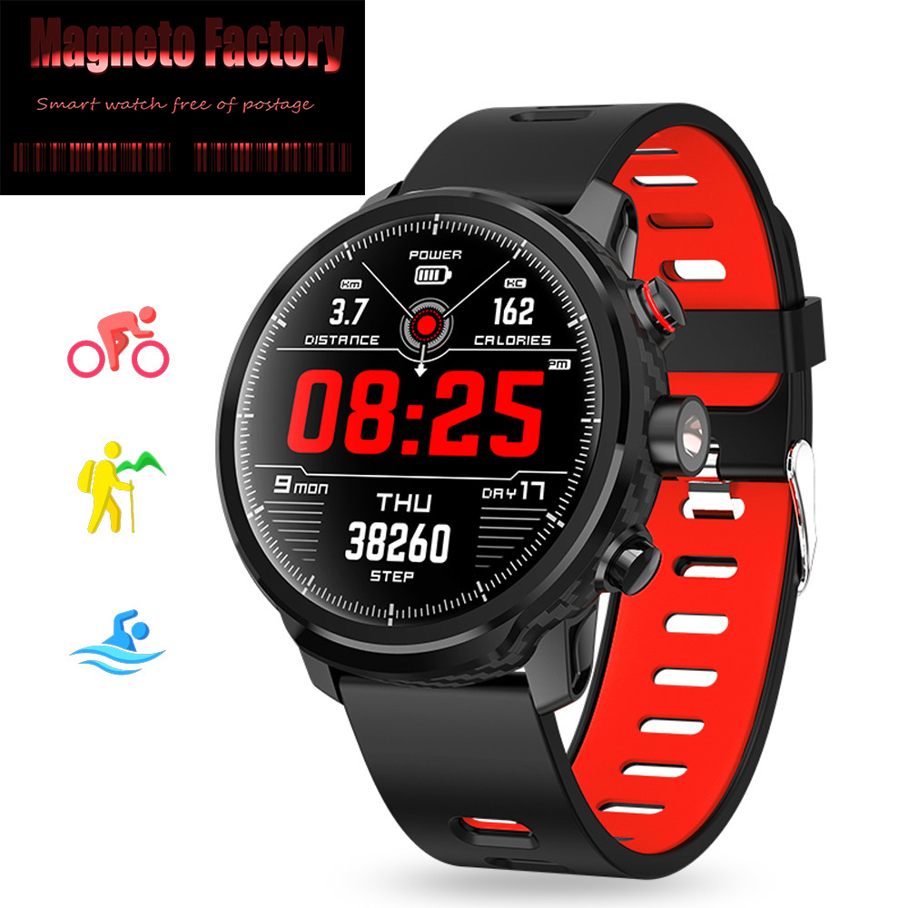 New 2019 L5 Smart Watch Men IP68 Waterproof Multiple Sports Mode Heart Rate Monitor Weather Forecast for Android and IOS Phone