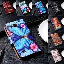 Flip PU Leather Phone Cover For Samsung Galaxy A3/A5/A7/A8/J1/J5/J7/E5/E7 Cases Hard Plastic Black Inner Anti-Knock Phone Bags