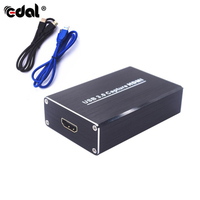 EDAL USB Drive Free Capture Card Box 1080P 60FPS HDMI Video Capture For Windows Linux OS