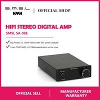 SMSL SA 98E 160W*2 Big Power HIFI Digital Amplifier TDA7498E Class T AMP with 36V 5.7A Power Adapter Supply Black Silver Gold