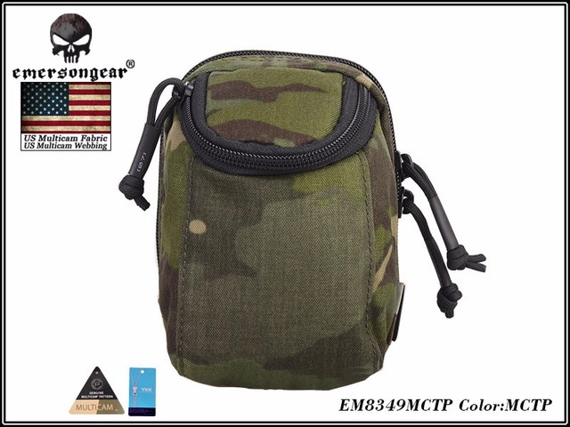 EmersonGear EDC Digital Camera Waist Bag Molle Military Airsoft Combat Gear Bag EM8349 Multicam Black 2