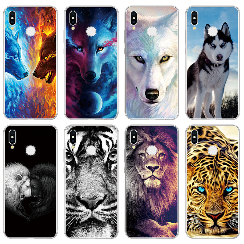 TPU Fundas For Huawei P Smart 2019 P8 P9 P10 Plus P20 P30 Lite Pro 2017 Wolf Lion Phone Cover For Huawei Mate 9 10 20 Lite Cases