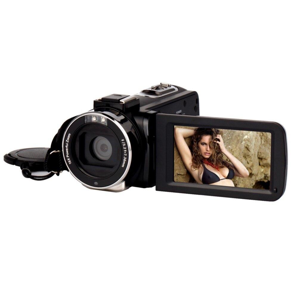 4 K caméra WIFI caméscope Kimire Ultra HD caméra vidéo numérique 30.0MP enregistreur 3.0 pouces 270 degrés Rotation écran tactile 16X Zoom