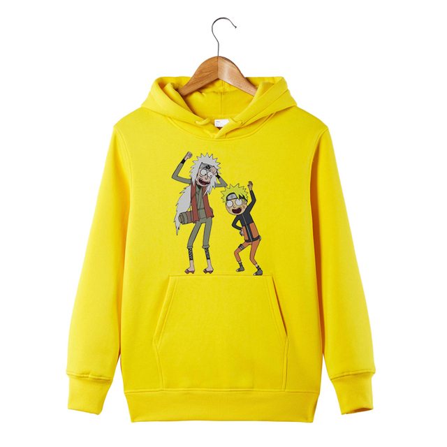 Rick and Morty Naruto Hoodie Anime Manga Sweatershirt Pickle Rick Naruto and Jiraiya Funny Hoodie Sweatershirt 4